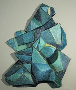 3D  painted wall sculpture